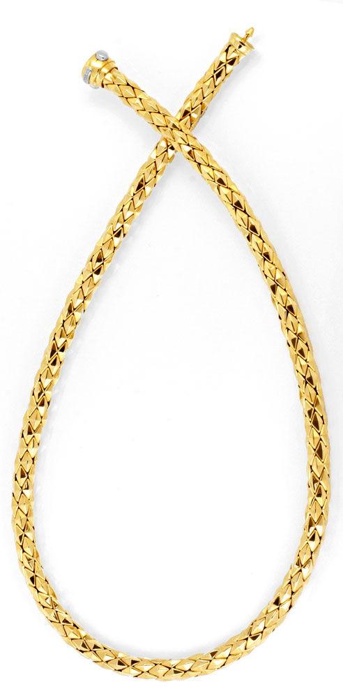 Foto 3, Designer Kette und Armband Gelbgold 18K/750 Luxus! Neu!, K2049