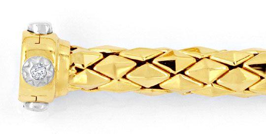 Foto 4, Designer Kette und Armband Gelbgold 18K/750 Luxus! Neu!, K2049