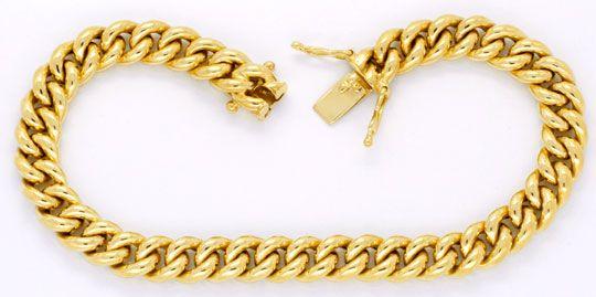 Foto 1, Rundpanzer Armband, Gelbgold 14K, Kastenverschluss Shop, K2051