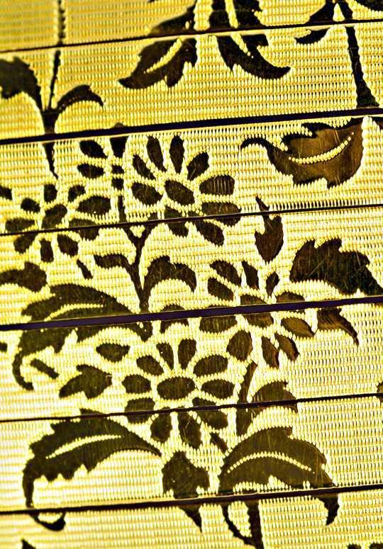 Foto 2, Sehr altes Designer Goldarmband Floral Gemustert Luxus!, K2052