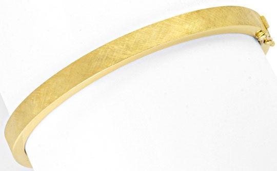 Foto 1, Armreif Gelbgold Gravur Satinier Muster 585 Luxus! Neu!, K2053
