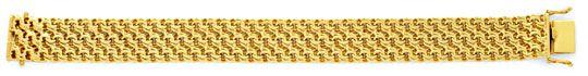 Foto 1, Dreireihiges Garibaldi Goldarmband Gelbgold Luxus! Neu!, K2054