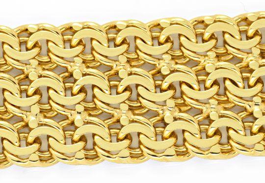 Foto 2, Dreireihiges Garibaldi Goldarmband Gelbgold Luxus! Neu!, K2054