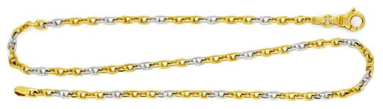 Foto 1, Ankerkette, Goldkette Gelbgold Weissgold Bicolor Luxus!, K2055