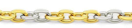 Foto 2, Ankerkette, Goldkette Gelbgold Weissgold Bicolor Luxus!, K2055