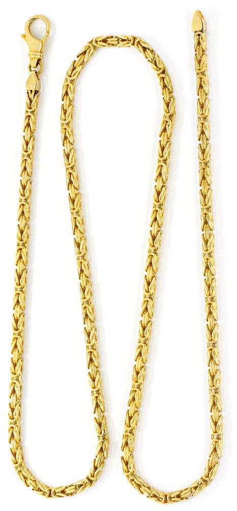 Foto 2, Massive Königskette Gelbgold 14K/585 44Gramm Luxus! Neu, K2057