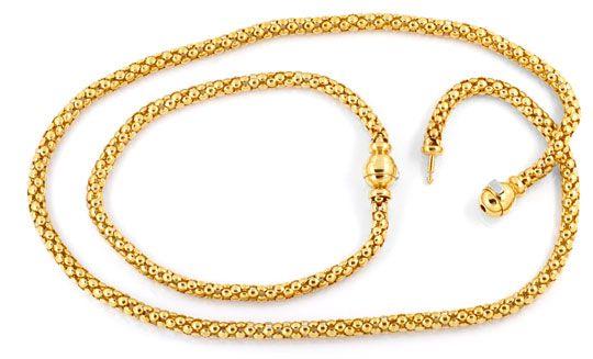 Foto 1, Himbeer-Schlauch-Kollier und Armband / Fusskette Luxus!, K2062