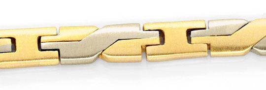 Foto 2, Massives Gelbgold Weissgold Designer Goldkollier Luxus!, K2064