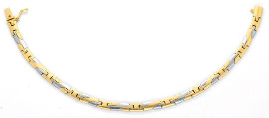 Foto 1, Design Armband Gelbgold Weissgold massiv 14K/585 Luxus!, K2065