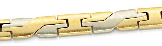 Foto 2, Design Armband Gelbgold Weissgold massiv 14K/585 Luxus!, K2065
