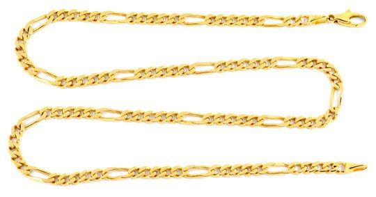 Foto 1, Wempe Figaro Flachpanzer Goldkette massiv Gelbgold Shop, K2066