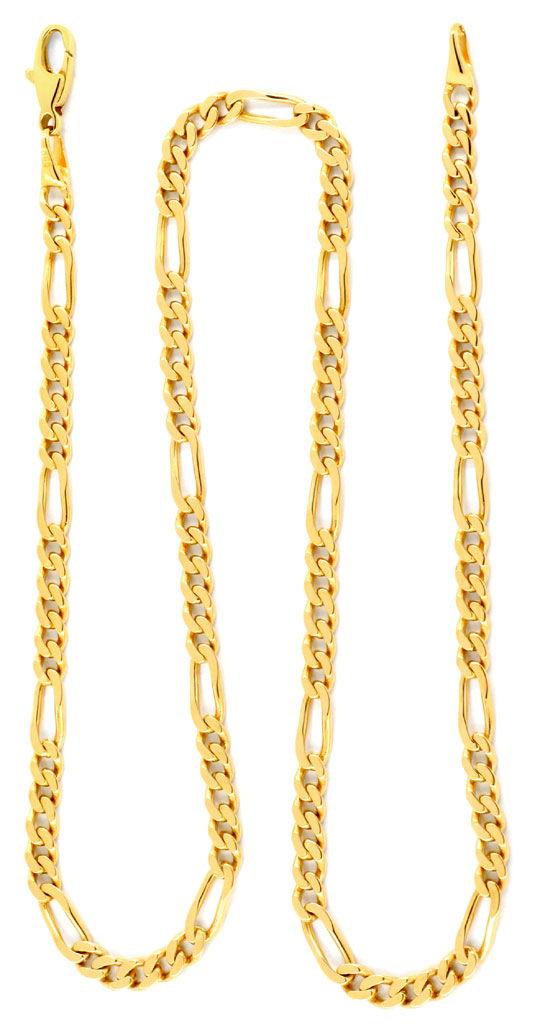 Foto 2, Wempe Figaro-Flachpanzer Goldkette massiv Gelbgold Shop, K2066