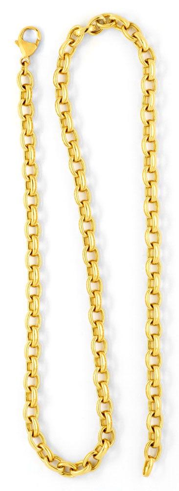 Foto 3, Massive Anker-Kette Goldkette, Gelb-Gold 18K/750 Luxus!, K2071