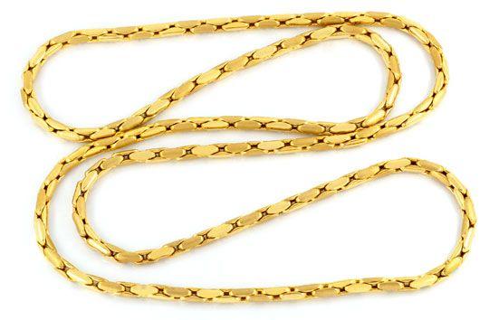 Foto 1, Anker-Gold-Kette 90cm Gelbgold 18K Teil-Mattiert Luxus!, K2073