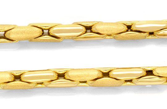 Foto 2, Anker-Gold-Kette 90cm Gelbgold 18K Teil-Mattiert Luxus!, K2073