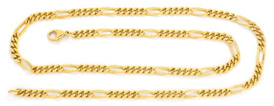 Foto 1, Goldkette Figaro, massive Gelbgold Kette 14K Luxus! Neu, K2074
