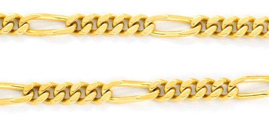 Foto 2, Goldkette Figaro, massive Gelbgold Kette 14K Luxus! Neu, K2074