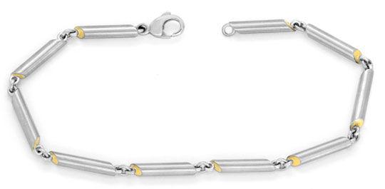 Foto 1, Platin Gold Armband, Platinschmuck / Goldschmuck Luxus!, K2078