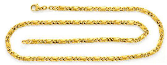 Foto 1, Dollar Kette Goldkette massiv Teil Mattiert Luxus! Neu!, K2080