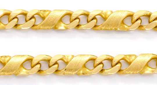 Foto 2, Dollar Kette Goldkette massiv Teil Mattiert Luxus! Neu!, K2080