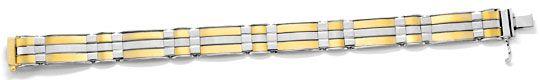 Foto 1, Designer Armband Gelb-Weissgold Extrem Aufwendig Luxus!, K2081