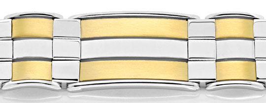 Foto 2, Designer Armband Gelb-Weissgold Extrem Aufwendig Luxus!, K2081