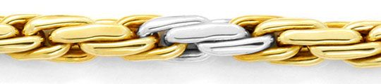 Foto 2, Kette Doppel-Anker Gold-Kette Gelbgold Weissgold Luxus!, K2084