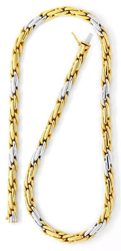 Foto 3, Kette Doppel-Anker Gold-Kette Gelbgold Weissgold Luxus!, K2084