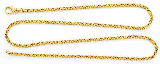 Foto 1, Königskette Königs Goldkette massiv Gelbgold Luxus! Neu, K2085