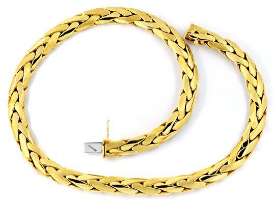 Foto 1, Zopf Kette Goldkette Kollier Collier, Handarbeit Luxus!, K2087