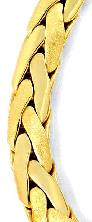 Foto 2, Zopf-Kette Goldkette Kollier Collier, Handarbeit Luxus!, K2087