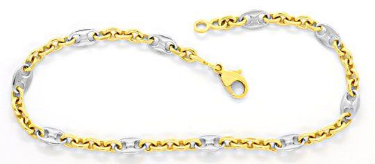 Foto 1, Armband, Bohnen Marina Schiffsanker Anker, Bicolor Shop, K2089