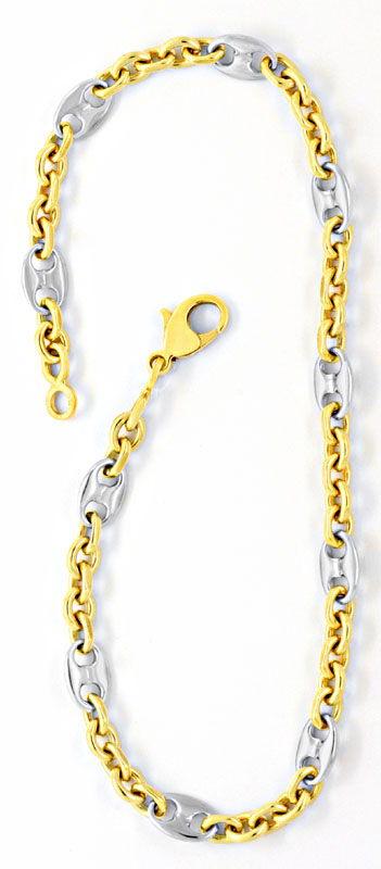 Foto 2, Armband, Bohnen Marina Schiffsanker Anker, Bicolor Shop, K2089