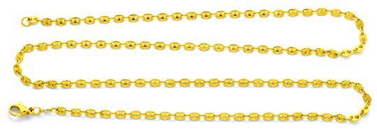 Foto 1, Goldkette massiv Gold Bohnen Marina Schiffsanker Luxus!, K2090