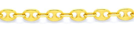 Foto 2, Goldkette massiv Gold Bohnen Marina Schiffsanker Luxus!, K2090