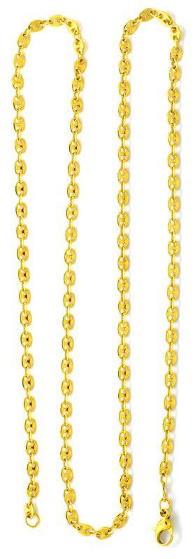 Foto 3, Goldkette massiv Gold Bohnen Marina Schiffsanker Luxus!, K2090