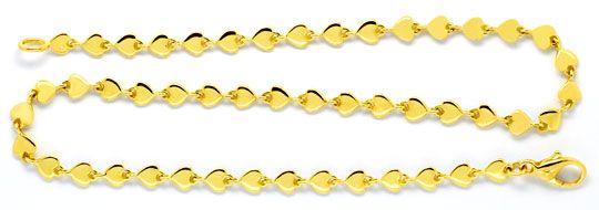 Foto 1, Armband und Kette aus Herzen massiv 750 Gold Luxus! Neu, K2093