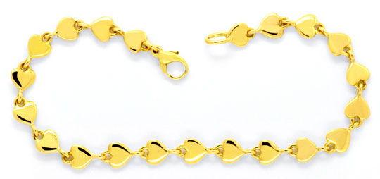 Foto 2, Armband und Kette aus Herzen massiv 750 Gold Luxus! Neu, K2093