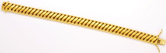 Foto 1, Goldarmband Doppel-S-Armband Gelb-Gold, Graviert Luxus!, K2094