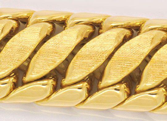 Foto 2, Goldarmband Doppel-S-Armband Gelb-Gold, Graviert Luxus!, K2094