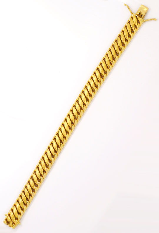 Foto 3, Goldarmband Doppel S Armband Gelb Gold, Graviert Luxus!, K2094