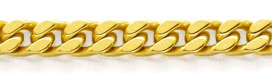 Foto 2, Massive Flachpanzer Kette, Goldkette 14K/585 Luxus! Neu, K2096
