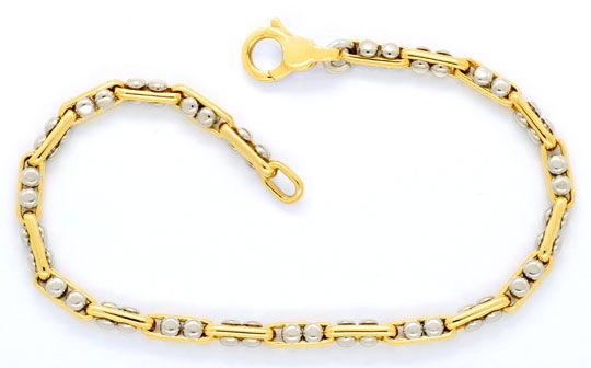 Foto 1, Designer Goldarmband Anker Bewegliche Nieten 18K Luxus!, K2097