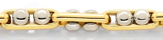 Foto 2, Designer Goldarmband Anker Bewegliche Nieten 18K Luxus!, K2097