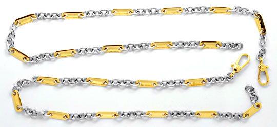 Foto 1, Pomellato Goldketten Anker Plättchen, massiv 18K Luxus!, K2098