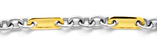 Foto 2, Pomellato Goldketten Anker Plättchen, massiv 18K Luxus!, K2098