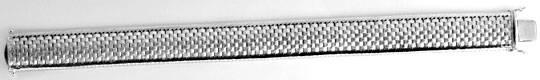 Foto 1, Breites Weissgold Armband Backstein 14K/585 Luxus! Neu!, K2099