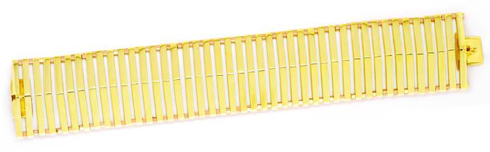 Foto 1, Seltenes Designer Gold-Armband 14K Gelbgold und Rotgold, K2100
