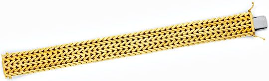 Foto 1, Breites Gold-Armband Gelbgold Teil-Mattiert Luxus! Neu!, K2101