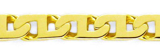 Foto 2, Goldkette massiv Gelbgold Stegpanzer 14K/585 Luxus! Neu, K2102